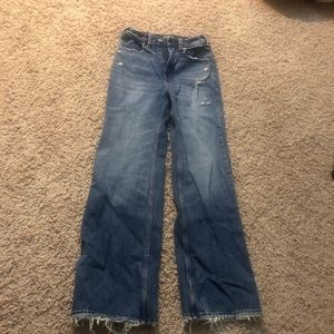 Abercrombie & Fitch ankle high rise wide leg jean